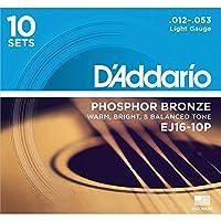 D'Addario EJ16-10P Light 012-053 10セット アコースティックギター弦