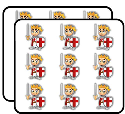 """St. George Boy King 2"""" 18 Pack Planner Calender Scrapbooking Crafting Stickers"""