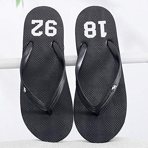 towells Flip-Flops Herren Sommer rutschfeste Mode Sandalen und Hausschuhe-36_1892 weiblich schwarz