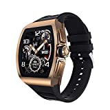 """ZHANGYANG Smartwatch da 1,4"""", Orologio Fitness Tracker con cardiofrequenzimetro Promemoria sincronizzazione messaggi e Chiamata Impermeabile IP68 Scatta Foto in remoto-d'oro"""