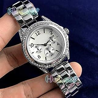 JINN-Women's Watches - Fashion brand Women Watches Silver Gold Round Stainless Steel Band Quartz Watch Female diamond Cloc...