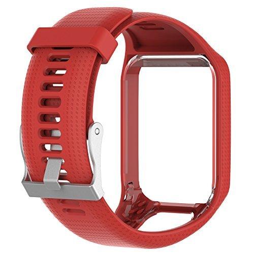 Pulseira de Silicone vermelha Para Relógio TomTom Runner 2/3 / Spark/Adventure