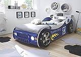Wohnorama 90x200 Autobett inkl Beleuchtung Energy von Pol-Power Blau Glanz
