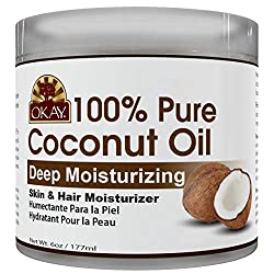 OKAY 100% Pure Coconut Oil Skin and hair moirturizer