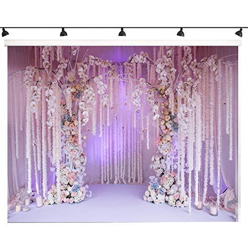 Fotohintergrund, 5 x 7ft Hochzeit Großen Hintergrund Fotografie Hintergrund Hintergrund für Baby Neugeborene Kinder Teen Adult Foto Video Studio