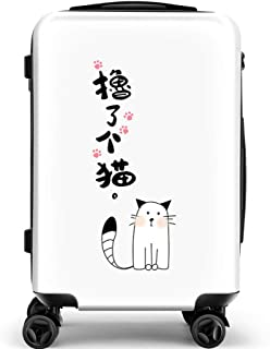 YCYHMY College Student Trolley Case Adult ABS Hard Shell Trolley Suitcase Hand Luggage White 18 Inch