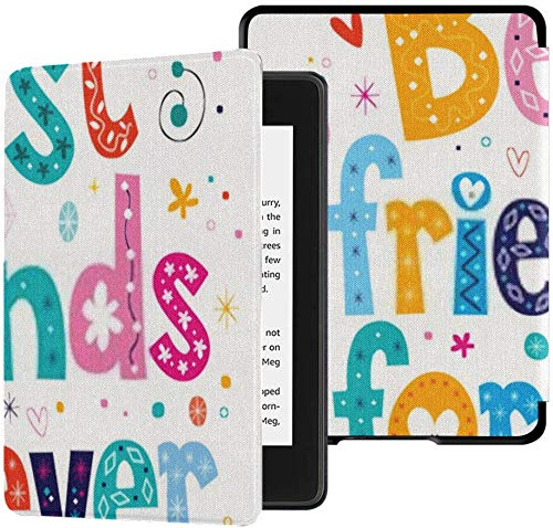 All-new Kindle Paperwhite Water-safe Fabric Cover(10th Generation, 2018 Release), Best Friends Forever Tablet Case