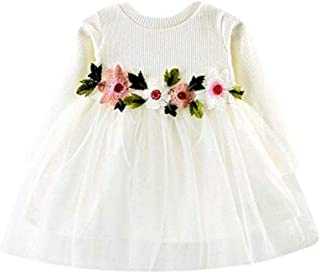 556541b87f Baby Girl Dress Kids Floral Lace Party Princess Dresses