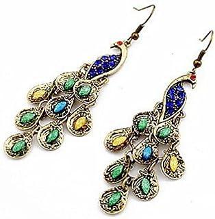 Shining Diva Blue Metal Dangle & Drop Earring For Women