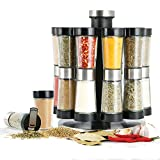 Orii Hourglass Kitchen Spice Rack Filled with Spices | Countertop Spice Rack Organizer for Kitchen Spices, Free Refills for 5Years (Silver)