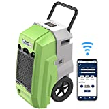 AlorAir Storm Pro Industrial Commercial Dehumidifier, WiFi Smart 85 PPD Dehumidifier with Pump, APP Control, LCD Display, Compact for Water Damage Restoration, 5 Years Warranty, Green