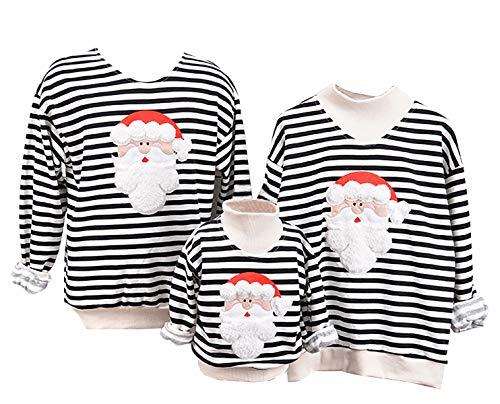 ODOKEI Weihnachtspullover Familie Pulli Pullover Weihnachten Herren Sweatshirt Pullis Sweater Damen Kinder Jumper Weihnachtspullis Christmas Weihnachts Xmas Winterpullover Kind 5T