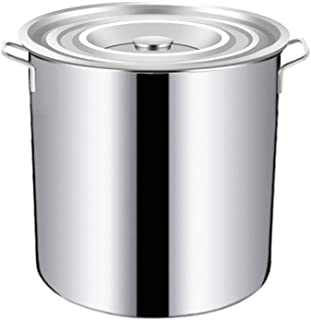 Stainless Steel - Large Stock Pot,Professional Induction-Safe Stainless Steel Stock Pot with Lid - Suitable for All Stove...