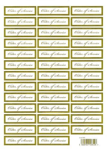 Die Cut Menu 38 Goud Verijdelde Witte Kaart Woord Toppers Bruiloft 1 x A4