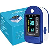 Easy@Home Fingertip Pulse Oximeter SpO2 Blood Oxygen Saturation Meter and Heart Rate Monitor,...