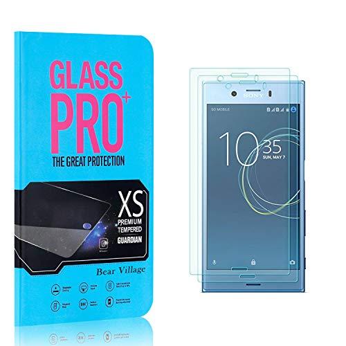 Bear Village® 9H Verre Trempé pour Sony Xperia XZ1 Compact, sans Bulles, 3D Touch, Ultra Résistant Anti Rayures Protection en Verre Trempé Écran pour Sony Xperia XZ1 Compact, 2 Pièces