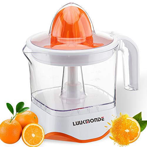 Electric Citrus Juicer with pulp control filter and dust proof cover - Orange squeezer with two size...