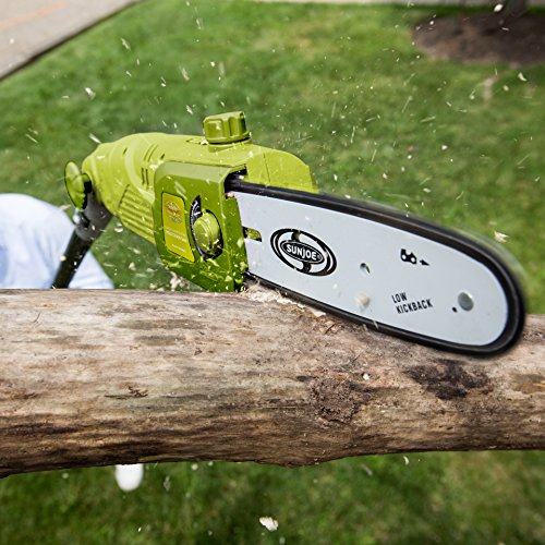 Sun Joe SWJ802E 9 FT 6.5 Amp Electric Pole Chain Saw with Adjustable Head