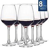 ensemble de 8 verres à vin rouge et à vin blanc, 450ml, transparent, élégance