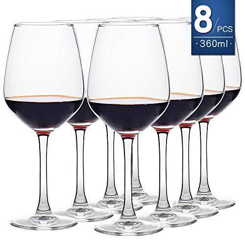 Juego de 8 copas de vino 450 ml transparente