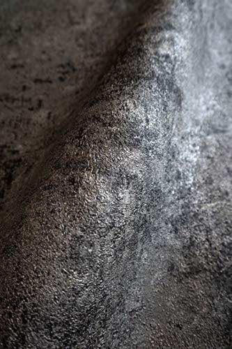 NEWROOM Tapete Schwarz Vliestapete Leicht Glänzend - Uni Modern Grau Silber Struktur Monochrom Einfarbig Schlicht inkl. Tapezier-Ratgeber