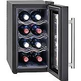 Proficook GK 1163 Vinoteca 8 botellas vertical, enfriamiento termoeléctrico, 21 litros, ajuste electrónico de temperatura, panel táctil, display, luz interior, Clase Climática N, Clase energética A+