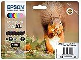 Epson c13t37984010Cartuchos de Tinta original Pack of 6 válido para EPSON Expression Photo XP-8500 / XP-8505, Ya disponible en Amazon Dash Replenishment
