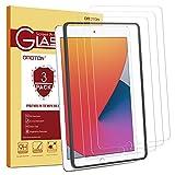 OMOTON [3 Stück] Panzerglasfolie für das Neue iPad 10.2 (8. Generation-2020)/iPad 10.2 (7. Generation-2019)/iPad Air 3,iPad 10.2 Panzerglas mit Schablone [9H Festigkeit] [Kratzfest] [bläschenfrei]