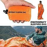 Saco de dormir portátil de emergencia, para exterior, supervivencia, bolsa de camping, impermeable, térmico, saco de dormir de supervivencia