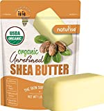 African Shea Butter Raw Organic - Unrefined Ivory 100% Pure - Natural Moisturizer for Hand, Hair, Skin and Body - Base For Homemade Body Butter, Lotion and Soap - 1 Lb Bar, By Naturise