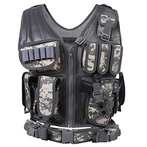 Hotsung Tactical Vest for Military Combat Training/Field Operations and Special Missions -...