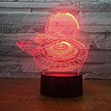 3D Led Lamp Boy Bedroom Night Light Trek Table Lamp Bulbing Kids Toys Child Gift