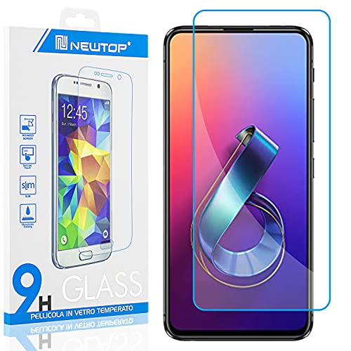 N NEWTOP [1 PEZZO] Pellicola GLASS FILM Compatibile con ASUS ZENFONE 6 ZS630KL 6.4'', Fina 0.3mm...