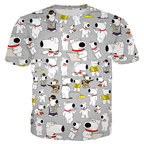 Anime Family Guy 3D All Over Printed Hoodie 3D-Druck-Sweatshirt Männer Frauen-T-Shirt Reißverschluss-Mantel T-Shirt 1 XL