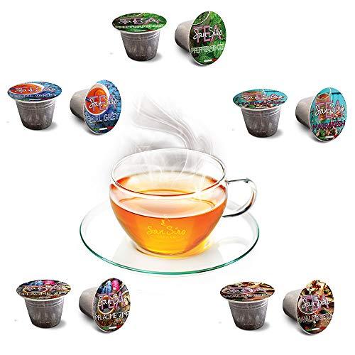 SanSiro Tee Selection Box No. 1 - 100 Nespresso® kompatible Teekapseln - 5 Sorten mit je 20 Kapseln