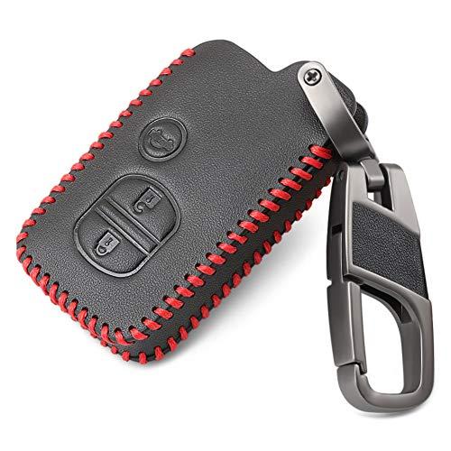 USNASLM Funda de piel auténtica para llave de coche, para Toyota Land Cruiser Prado Vitz Camry Prius Crown y Subaru Foreste Outback Legacy