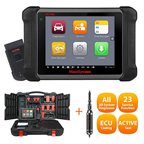Autel Maxisys MS906BT OBD2 Scan Tool with ECU Coding, Auto Scan, Bi-Directional Control, OE-leve Diagnostics Scanner, Oil Reset Service, EPB, ABS, SRS, SAS Advanced Version of MS906/MP808 & MV108