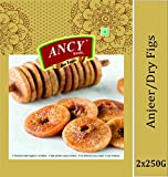 Ancy Dry Fruits Premium Dried Afghani Anjeer 500g (2x250g)
