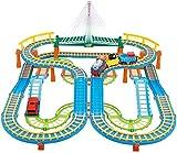 Kinderspielzeug für Schienenfahrzeuge Kleine Eisenbahngleise Elektrisches Spielzeugauto für Schienenfahrzeuge Pädagogisches Kinderspielzeug Eltern-Kind-Interaktives Spielzeug 3-8 Jahre alt -