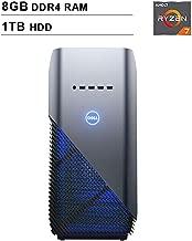2019 Newest Dell Premium Inspiron Gaming Desktop (AMD 8-Core Ryzen 7 2700 up to 4.1GHz, 8GB DDR4 RAM, 1TB HDD, AMD Radeon RX 580 4GB, WiFi, Bluetooth, HDMI, Windows 10, Blue)