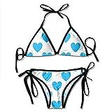 Garlincao Traje de baño, Azul Amor Mujer Bikini Trajes de baño Trajes de baño de Playa