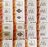Banithani paquete de 24 piezas diferentes multicolor bindis indio nueva tatuajes pegatinas temporal