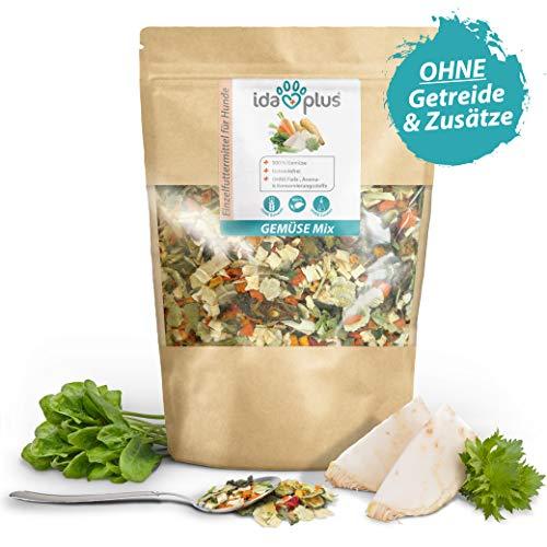 Ida Plus – Gemüse Mix 1000g – Barf Gemüse für Hunde – Getreidefrei & ohne künstliche Zusätze – 100{5a884abdb52da2c244e27237024d75eee7856c2fad126bcc310a5f6a56701837} Naturprodukt – mit Vitaminen und Mineralien für eine ausgewogene Rohfütterung – idealer Barf Zusatz