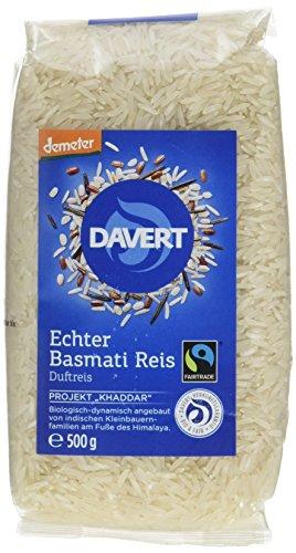Davert Echter Basmati Reis weiß, 2er Pack (2 x 500 g) - Bio