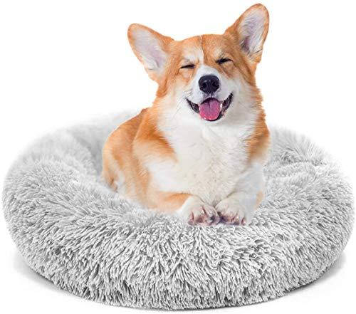 MMTX Donut Rund Hunde Betten Katzen Plüsch Haustierbett Hundekissen Hundesofa Katzenbett Warm Weich Deluxes Schlafen Bett zum Katzen und Kleine Hunde mittelgroßen Rutschfestes Waschbar