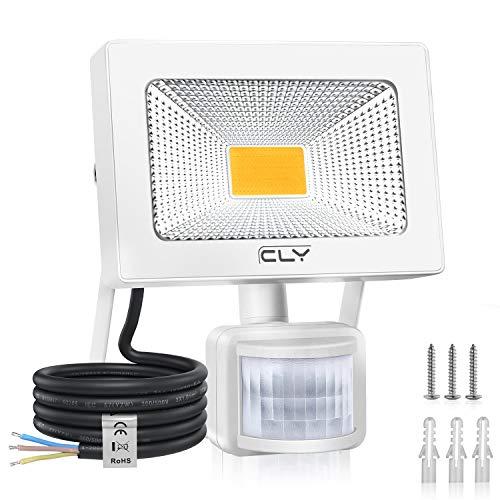 CLY Faretto con Sensore di Movimento 20W, 3000K, Luce di Sicurezza Impermeabile IP66, Faro LED Esterno con Sensore, 1800LM Caldo-bianco, Faretti LED per Giardino, Corridoio, Terrazza, Patio
