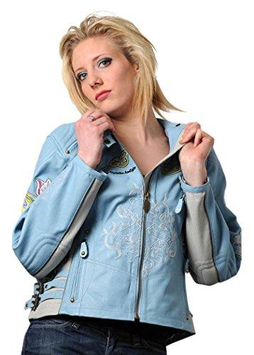Ed Hardy EHLSTW2-CSLZ Love Kills Slowly Damen Lederjacke, Größe : XL, Blau, Anzahl 1