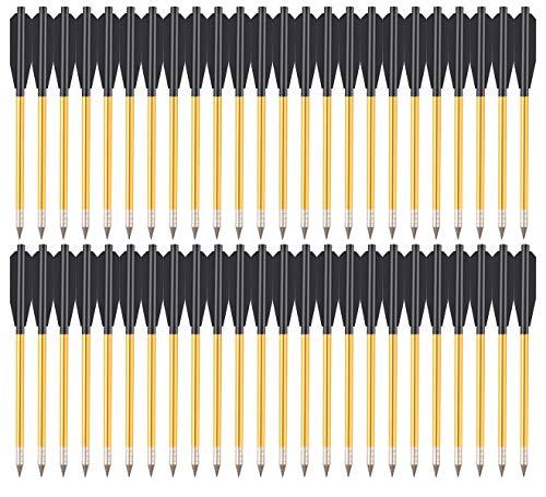 PMSM 6,5 Zoll Aluminium Armbrust Bolzen Pfeile für 50 lb / 80lb Pistolenarmbrust Präzisionsziel,Üben im Freien,kleine Jagd,Mini Pistole Armbrustbolzen Armbrustpfeile (60 Stück)