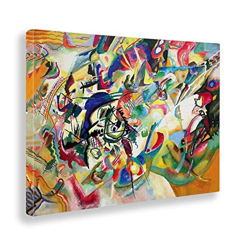 Giallobus - Quadro - Kandinsky - Composizione n. 7 - Stampa su Tela Canvas - Pronto da Appendere - Vari Formati - 140X100 cm