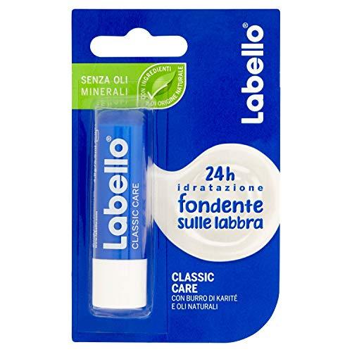 Labello Classic Care Balsamo Labbra, Formula senza Oli Minerali e Parabeni